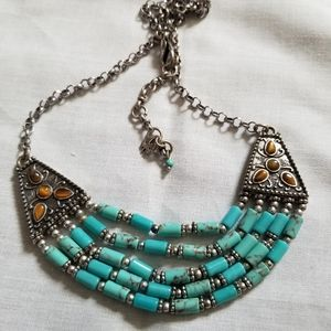 Beautiful  Lucky brand  turquoise necklace. New